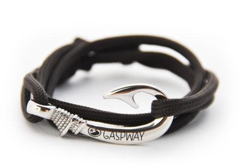 braccialetto amo da pesca dark coffee amo acciaio