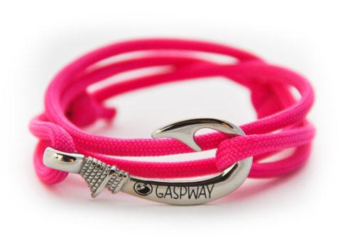 braccialetto amo da pesca pink amo acciaio