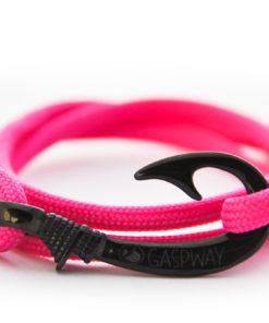 braccialetto amo da pesca pink amo nero