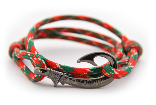 braccialetto amo da pesca red green camo amo canna di fucile