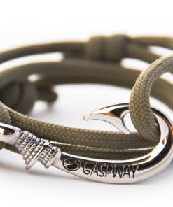 braccialetto amo da pesca covert green amo acciaio
