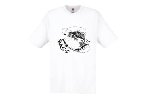 t-shirt pesce bass bianca