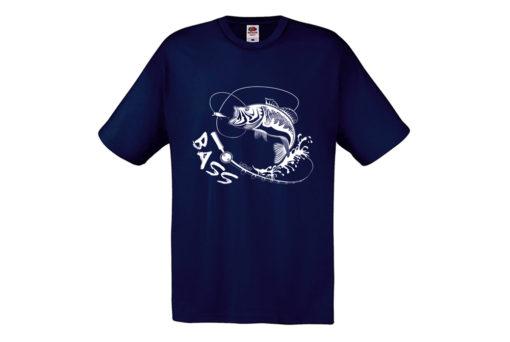 t-shirt pesce bass blu