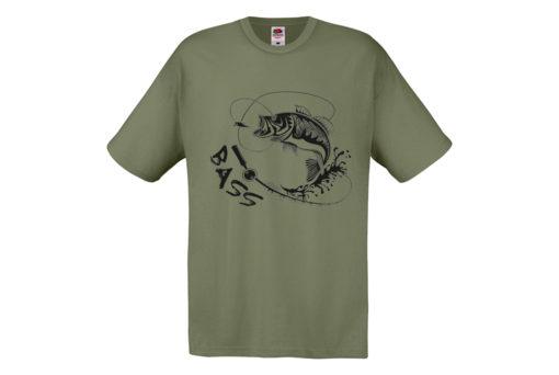 t-shirt pesce bass verde