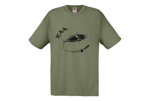 t-shirt pesce tuna verde