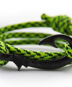 braccialetto-amo-da-pesca-fluor-green-snake-amo-canna-di-nero