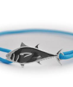 braccialetto tonno argento azzurro