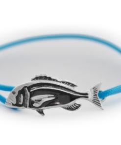 braccialetto dentice argento azzurro