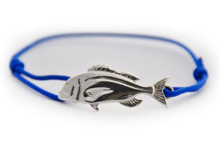 braccialetto dentice argento blue
