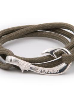 braccialetto gaspway amo da pesca covert green amo argento