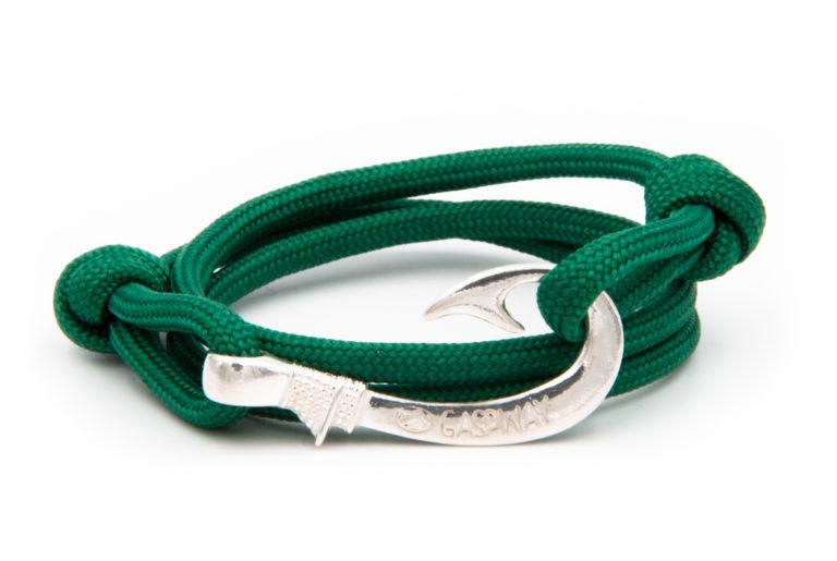 braccialetto gaspway amo da pesca bottle green amo argento