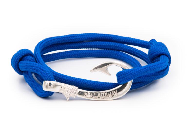 braccialetto gaspway amo da pesca electric blue amo argento