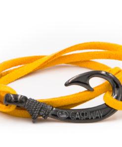 braccialetto amo da pesca gaspway alcantara giallo amo canna di fucile
