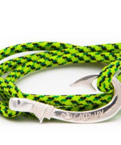 braccialetto amo da pesca gaspway fluor green snake amo argento