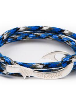 braccialetto amo da pesca gaspway mountain blue amo argento