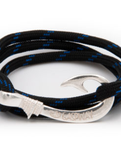 braccialetto amo da pesca gaspway thin blue line amo argento