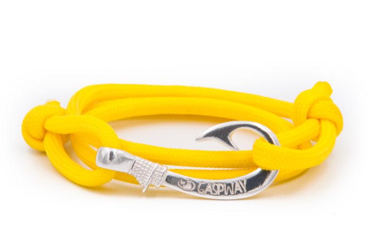 braccialetto amo da pesca gaspway yellow amo argento