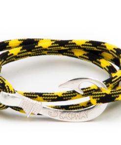 braccialetto amo da pesca gaspway yellow black amo argento