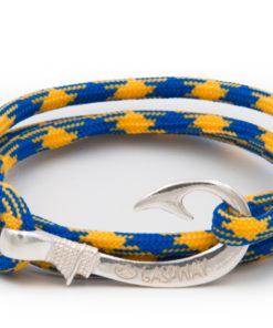 braccialetto amo da pesca gaspway yellow blue amo argento