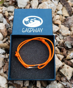 Scatola Braccialetto Mini Amo da Pesca Arancione